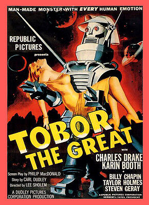 A3 - Tobor The Great Sci Fi Movie Home Wall Posters Retro Art #10