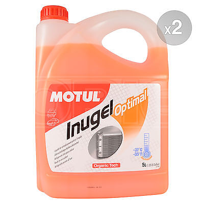 Motul Inugel Optimal Ready To Use Cooling Liquid & Anti Freeze 2 x 5 Litres 10L