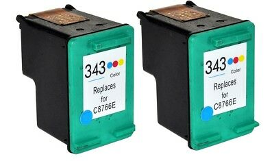 343 - C8766EE TWIN PACK Colour Text Quality Ink Cartridges for HP Printers