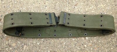 Canadian Military 52 Pattern Cotton Web Belt Brass Fittings #3514