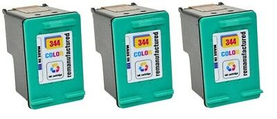 344 C9363ee Colour Ink Cartridge x 3 Remanufactured for HP Printers