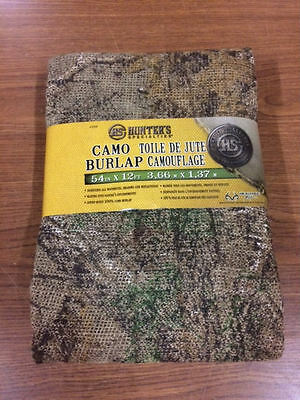 HS HUNTER'S SPECIALTIES CAMO BURLAP CAMOUFLAGE BLANKET REALTREE XTRA Green  NEW!