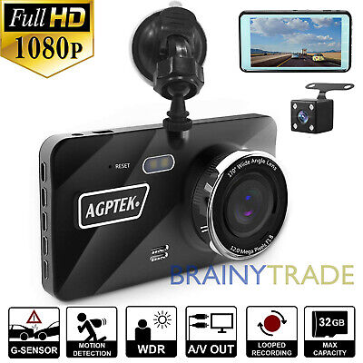 "4"" Vehicle 1080P HD Car Dashboard DVR Camera Video Recorder G-Sensor Dash Cam"
