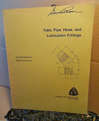 1976 Anchor Coupling Tube Pipe Hose and Lubrication Fittings Handbook Automotive