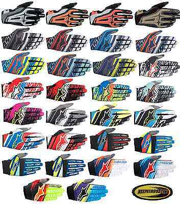 Alpinestars Gloves Mx Atv Motocross Off Road Motorcycle Black Red Blue Green
