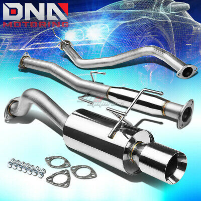 """4""""rolled Tip Stainless Steel Exhaust Catback System For 96-00 Honda Civic 3Dr Ej"""