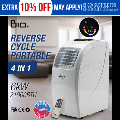 4in1 Portable Air Conditioner Reverse Cycle FAN Heater DEHUMIDIFIER - 21000 BTU