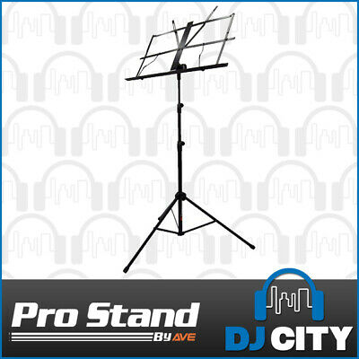 Adjustable Foldable Black Sheet Music Stand Portable with Free Carry Case