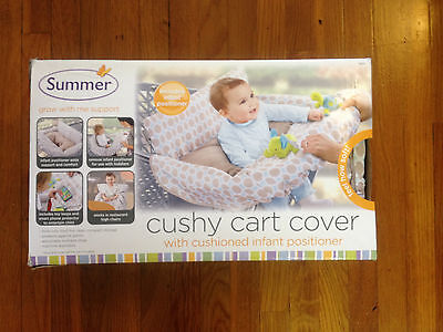 SUMMER INFANT CUSHY CART COVER ~ Tan & light blue 78370 ~ new
