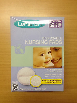 ebe350d8b6516 LANSINOH 20265 DISPOSABLE Nursing Pads 60-COUNT Boxes Pack Of 2 ...