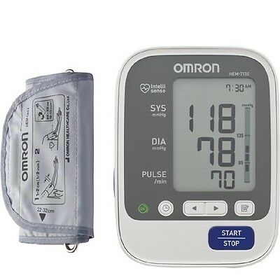 Omron HEM 7130 Bp Blood Pressure Monitor Deluxe upper Arm Free Express shipping