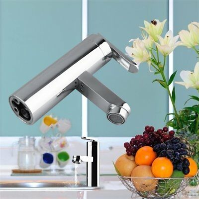 Brushed Chrome Waterfall Bathroom Basin Faucet Single Handle Sink Mixer Tap UL