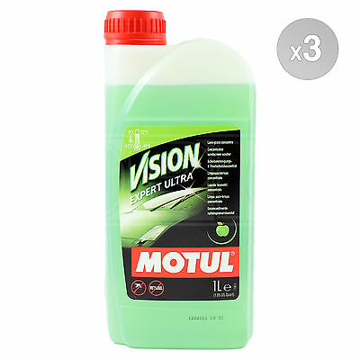 Motul Vision Expert Ultra APPLE SMELL Concentrated windscreen wash 3 x 1 Litres