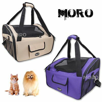 Pet Carrier Dog Cat Puppy Car Seat Soft Crate Cage House Travel Shoulbag Handbag