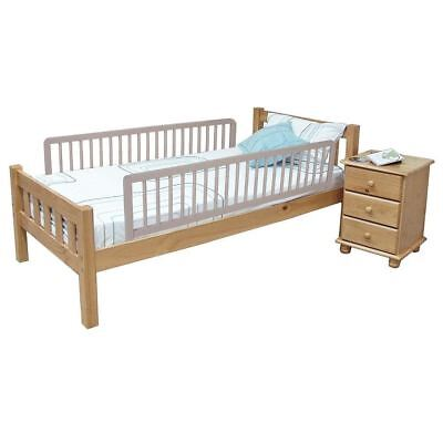 Safetots Extra Wide Double Sided Wooden Bedguards Grey - 2 Folding Bed Rails