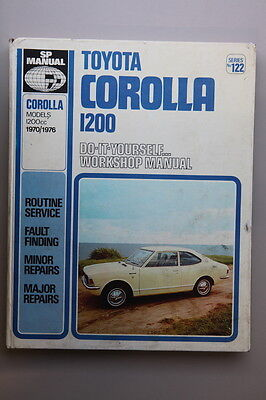 Toyota Corolla 1200 Workshop Manual 1970-76 Series No122 (REF 20K)