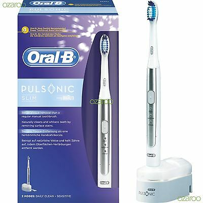 Braun Oral-B Pulsonic Slim Sonic Rechargeable Vibrate Power Electric Toothbrush