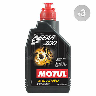 Motul Gear 300 75W-90 Racing gearbox and diff oil ester synthetic 3 x 1 Litre 3L