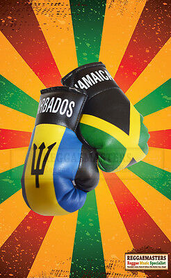 Jamaican Flag Mini Boxing Gloves for the Car or Home