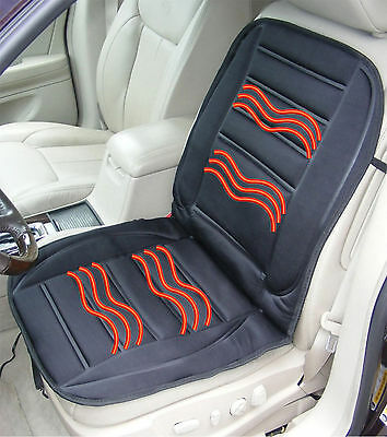 12V Heated Car Van Front Seat Cover Padded Thermal Universal Fit Cushion 12 Volt