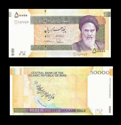 50000 50,000 Iran Iranian Rials Rial Khomeini  Collectable Persian Uncirculated