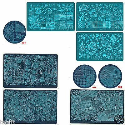 2019 New Flowers Lace Rose Stamping Plates Stamp Materials Nail Art Template
