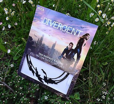 DIVERGENT Tris Inspired Ravens Silicone Tattoo Necklace Oficial NECA Merchandise