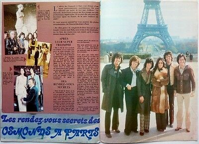 THE OSMOND BROTHERS in PARIS => 2 pages 1973 vintage FRENCH clipping !!!