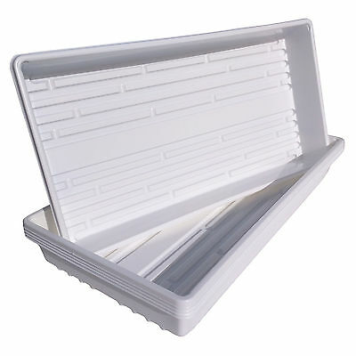 10 White 1020 Trays Professional Quality for Greenhouse, Garden, Hydroponics