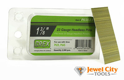 "Grex 23 Gauge Headless Micro Pins P6/35-2.5 1-3/8"" long 2,500 Per Box"