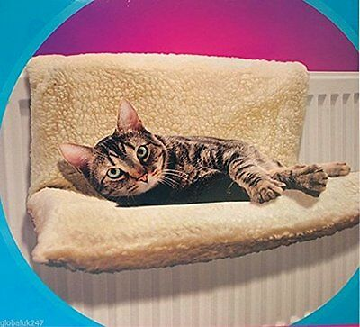 Cat Dog Radiator Bed Warm Fleece Beds Basket Strong & Durable Collapsible Frame