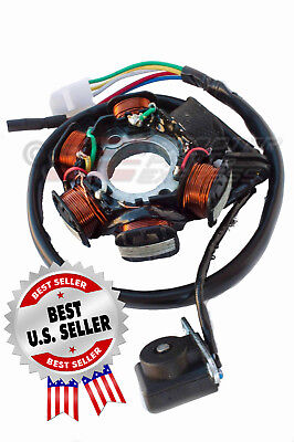 Stator Magneto Generator AC 6 Pole 6 Coil 5-Wire GY6 50 139QMB ~ US Seller