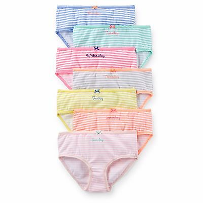 Carter's    Girls' 7-Pack Stretch Cotton Panties    MSRP $24.00  Size 2--8