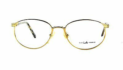 ddae5f5a85 Vintage Club LA 6006 Women s 54mm Oval Metal Plastic Eyeglasses France 90s  NOS