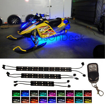 6pc LED MillionColor Under Glow NEON Lighting Kit For Polaris Arctic Snowmobiles