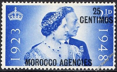 GB SG176 1948 Silver Wedding Overprint Morocco Agencies Spanish Currency MNH