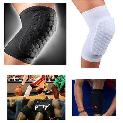 Knee Pad Protector Leg Patella Calf Support Guard Sleeve Brace Basketball Black