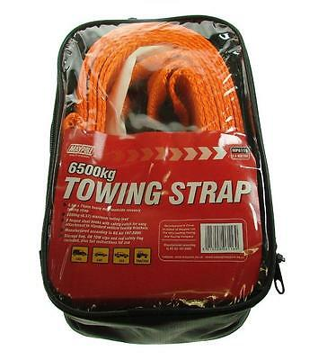Emergency Breakdown Recovery Tow Strap 3.5m x 75mm with Hooks 6.5 Ton