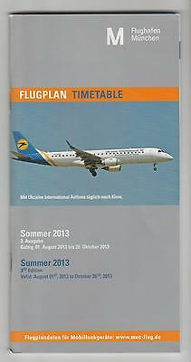 Timetable Munich Summer 2013 3rd Edition Valid:August 01st, 2013 to October 26th