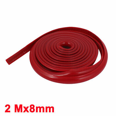 New 2M DIY Car Red Moulding Trim Strip Grille Exterior Decoration Roll Protector