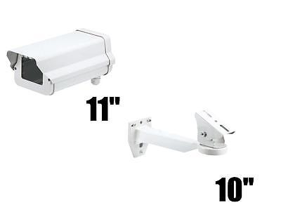 """CCTV 11"""" Security Camera Housing & 10"""" Wall Mount Outdoor Enclosure (New)"""