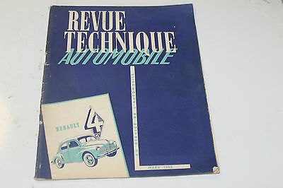 revue technique automobile MARS 1952 renault 4 ch