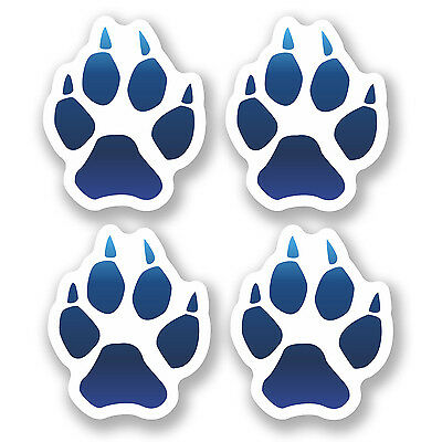 A4 Sheet 15 x Orange Dog Paw Prints Vinyl Stickers Animal Laptop Car Bike #6474