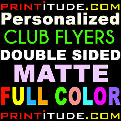 500 CLUB FLYERS 3.5x8.5 FULL COLOR MATTE 2 SIDED 14PT POSTCARD OFFSET PRINT