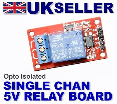1 channel Opt-isolated relay board 5v Arduino