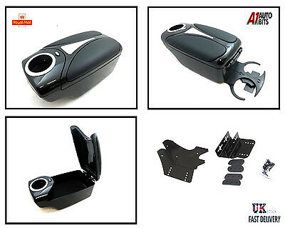 Armrest BLACK for VAUXHALL Opel Corsa B C D Combo Tigra FRONT BACK CUP HOLDERS