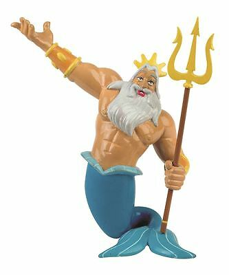 Little Mermaid King Triton Figurine - Disney Bullyland Toy Figure Cake Topper