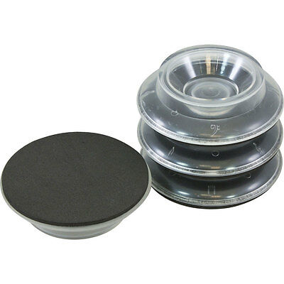 Piano Workshop Set of 4 Clear Plastic Castor Cups for Upright Piano