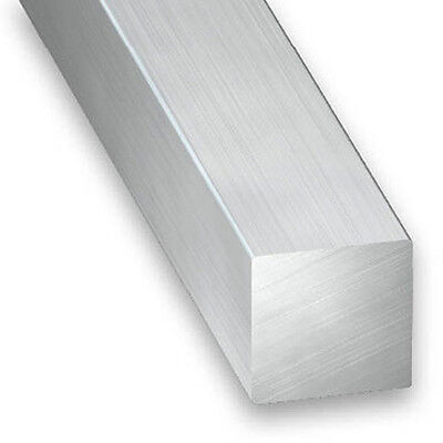 Raw Aluminium Square Bar - 6mm-12mm x 1m