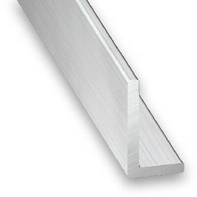 Raw Aluminium Unequal Angle - 10mm-30mm x 15mm-50mm x 1m